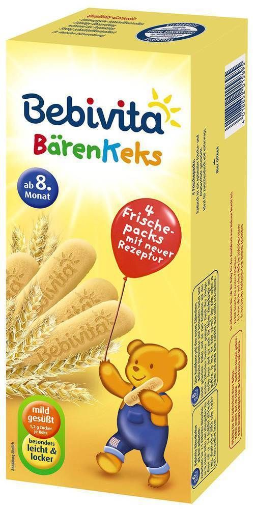 Bebivita HEALTHY Biscuits for TEETHING Babies -Made in Germany  from 8 months