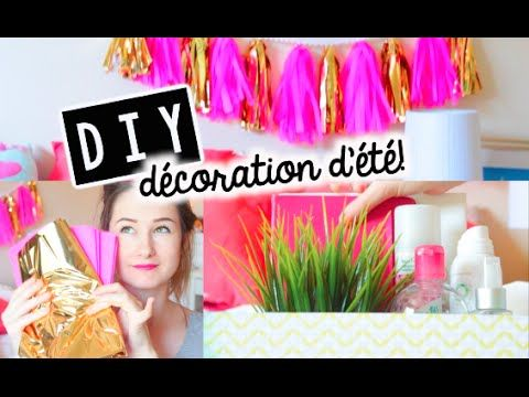 DIY | Décoration d'ÉTÉ! Cute & Abordable! - YouTube