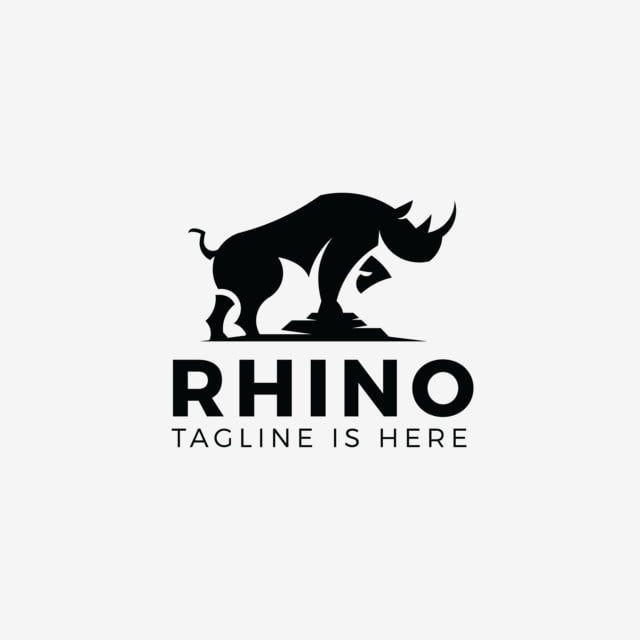 الكركدن وحيد القرن شعار صورة ظلية التميمة قالب رمز أسود عزل ناقلات هورن حيوان الرياضة شارة شعار رمز العلامة التجارية Rhino Logo Metal Working Home Decor Decals