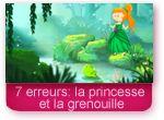 Jeu des 7 erreurs: la princesse et la grenouille