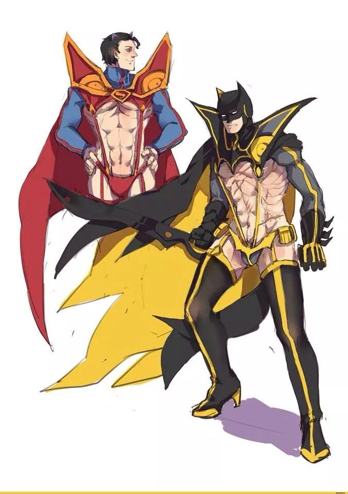 Superman, Batman / Kill La Kill Crossover...... seriously WRONG