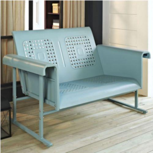 Vintage Porch Glider Love Seat Retro Patio Garden Outdoor Furniture 4 Colors