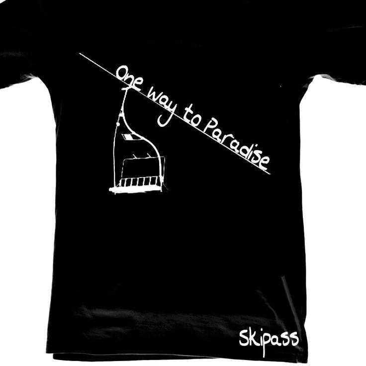 Ski Tshirt ride free ski ski pass