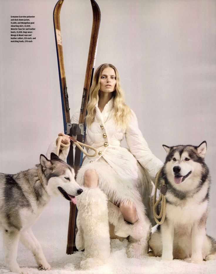A Winter's Tale. Ermanno Scervino F/W 2015-16 down jacket with gold buttons and Mongolian coat shearling skirt ft. in Financial Times - Travel Unravelled #ScervinoEditorials #ErmannoScervino