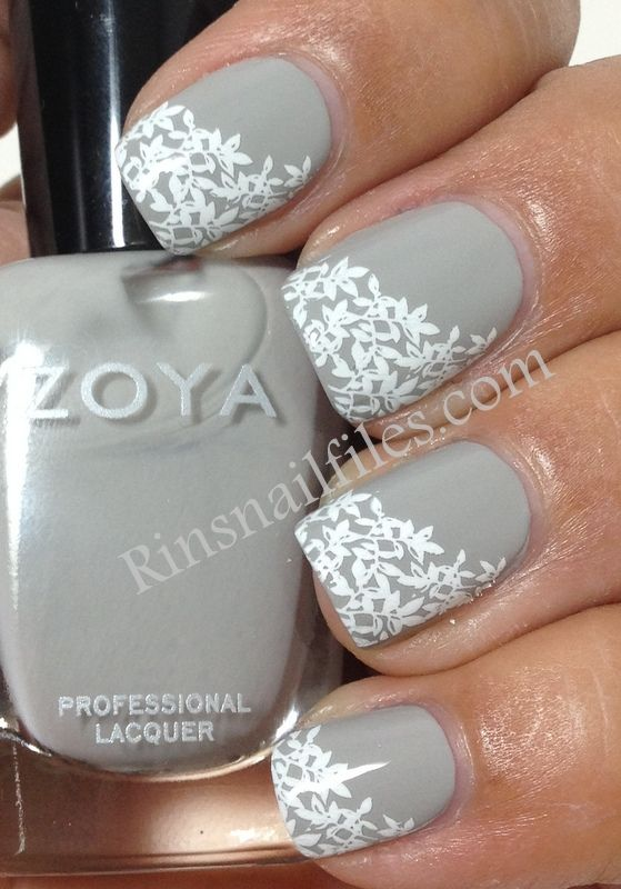 Matte grey with white stamping