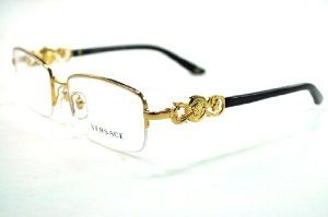 VERSACE Eyeglasses VE 1199 1002 Gold 53MM by Versace. $148.53