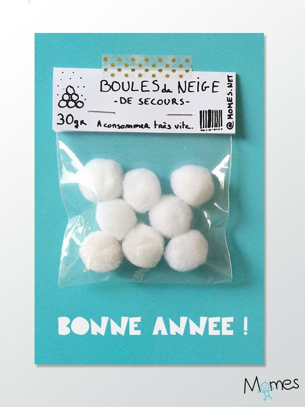 """Diy Carte de voeux """"boules de neige de secours"""" !"""