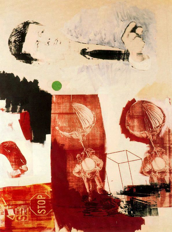 Robert Rauschenberg - Quote, 1964. Oil and silkscreen ink on canvas