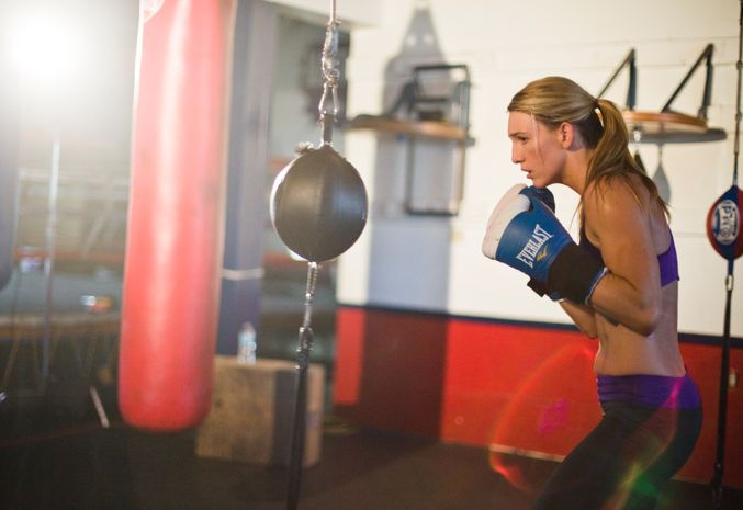 Boxer Mikaela Mayer dishes on diet, sparring, and skin care.