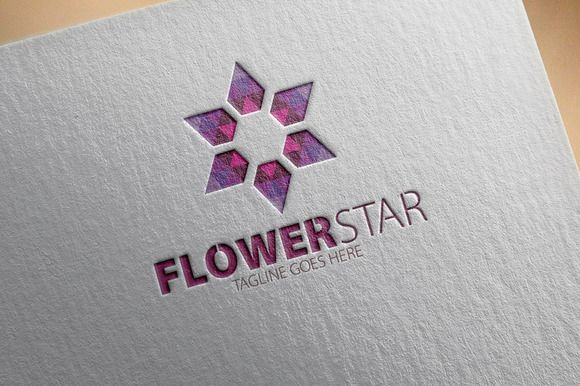 Check out Flower Star Logo by samedia on Creative Market
