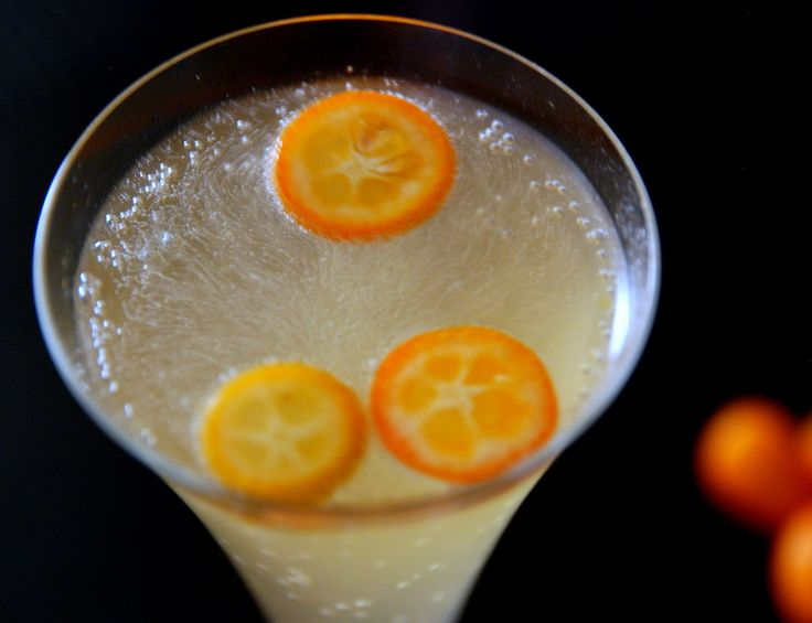 Sparkling Kumquat Cocktail