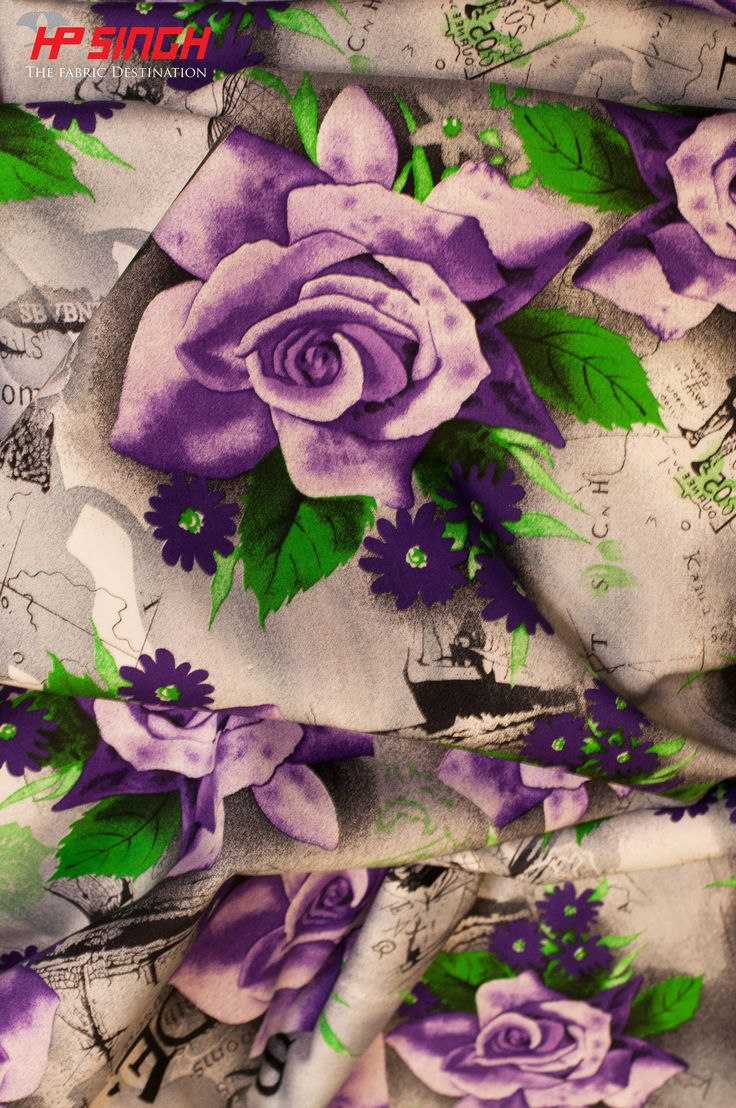 Rose print on Cotton Poplin