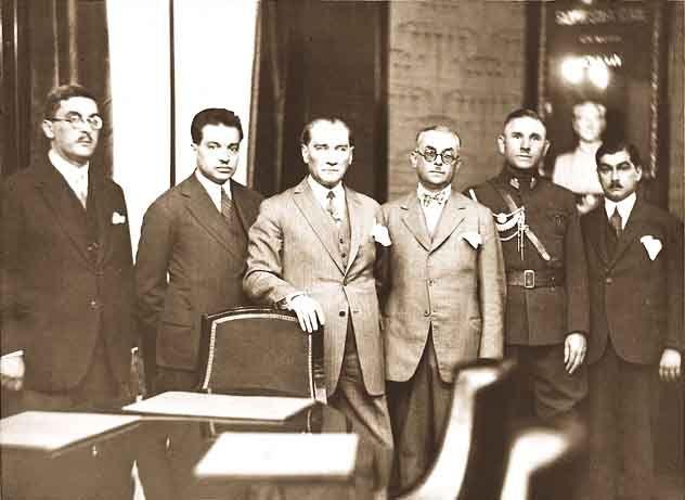 Ataturk on October 22 1929 Job Bank Headquarters.