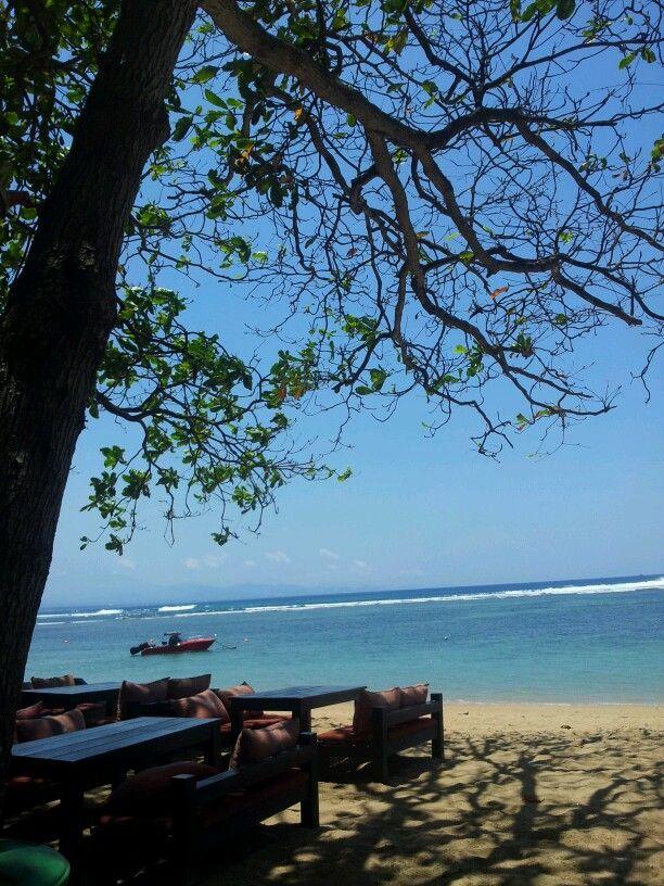 Beautiful Day in Sanur Beach Bali,Indonesia.