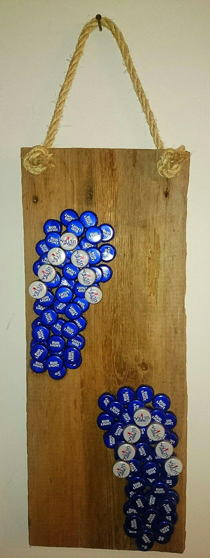 Bud Light Flip Flops made out of Beer Caps