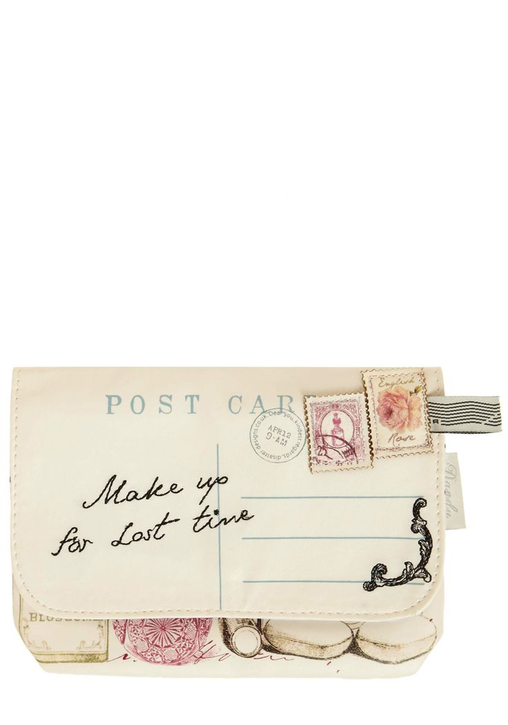 Through the Post Clutch. Though email is certainly convenient, there's something oh-so-lovely about a carefully crafted postcard or letter. #cream #modcloth