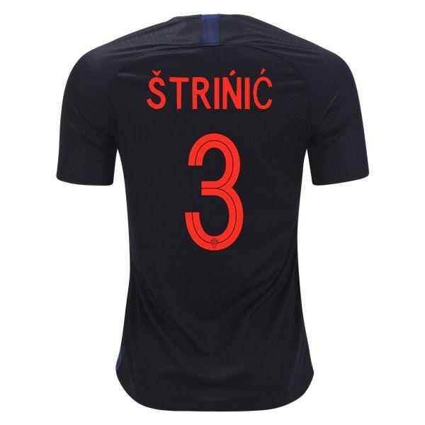 Ivan Strinic 3 Croatia 2018 World Cup Away Soccer Jersey Soccer Jersey Jersey Dejan Lovren