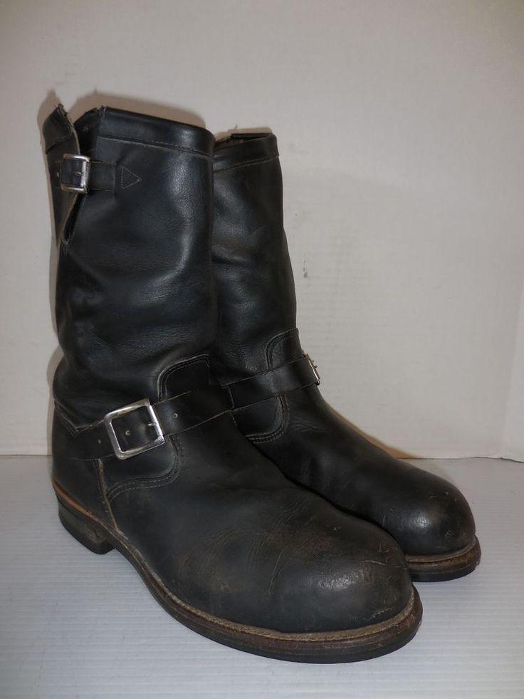 chippewa 11 quot black odessa engineer boot black steel toe
