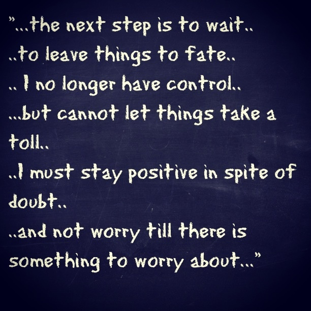 Patience is a virtue..
