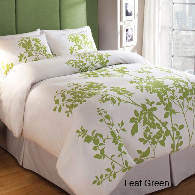 The elegant nature motif and minimalist look of this stylish duvet cover set provides a stunning addition to any bedroom decor. Crafted from 100 percent cotton and featuring a 300-thread count for superior comfort, this set will keep you warm and cozy.