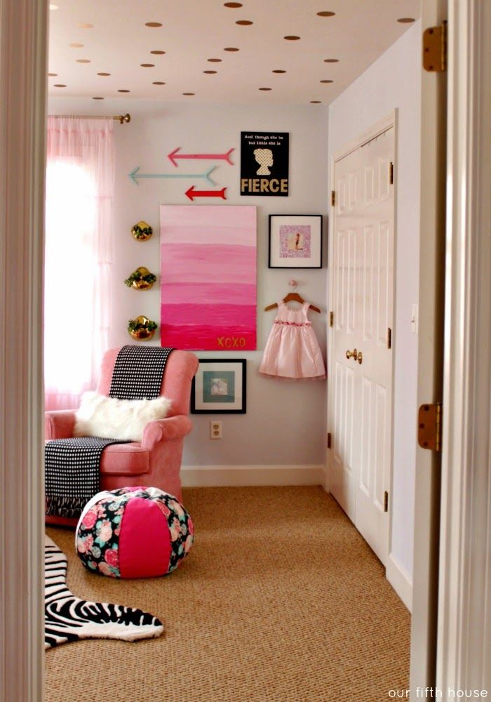 our fifth house - little girl's room awesome girls room with fab gallery wall
