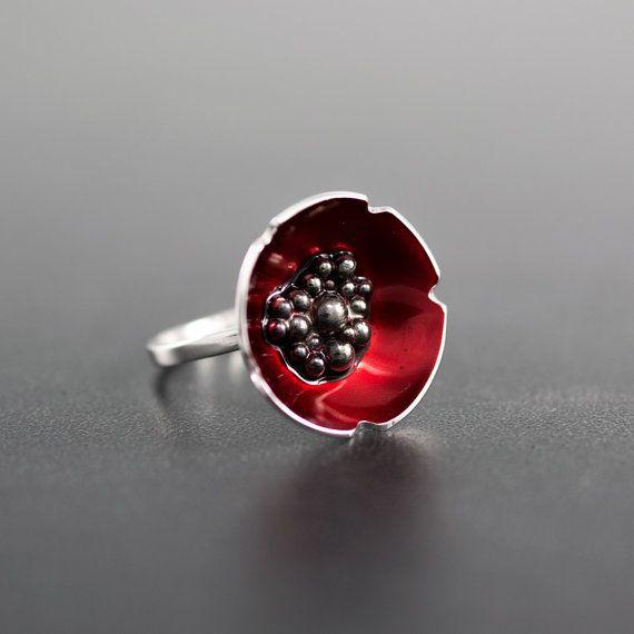 Enamel ring promise ring sterling silver ring for by emmanuelaGR