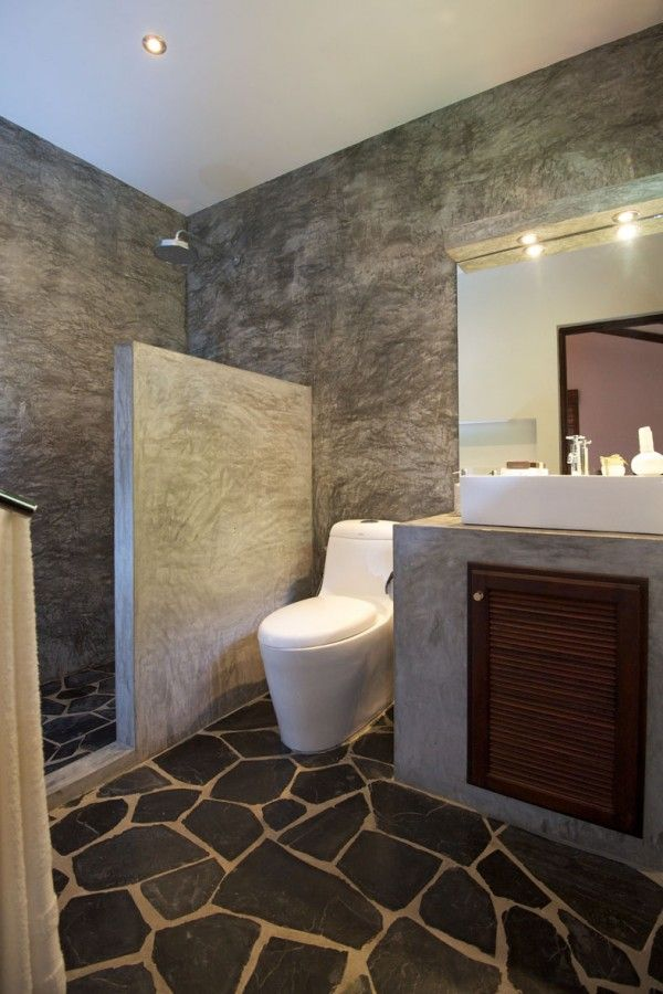 Photo Gallery In Website Inspiring Modern Bathroom Design Using Polished Concrete
