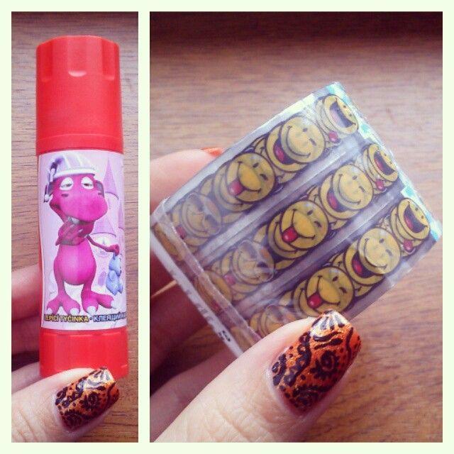 emoticon tape and cute glue