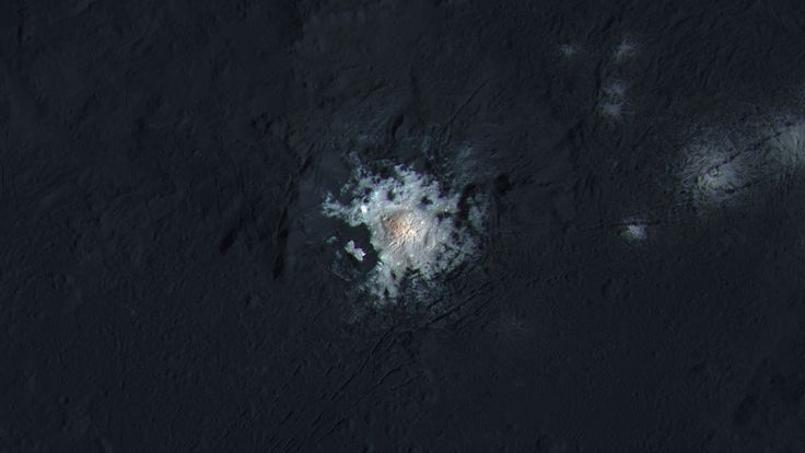 The large, bright spot on Ceres can be seen in the most detailed images yet taken from NASA's Dawn spacecraft, which has been orbiting the dwarf planet for a year. The pictures, taken just 240...