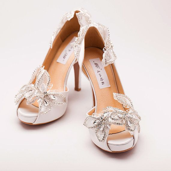 Can wedding shoes ballet fans. Water-soluble by Queenheels on Etsy