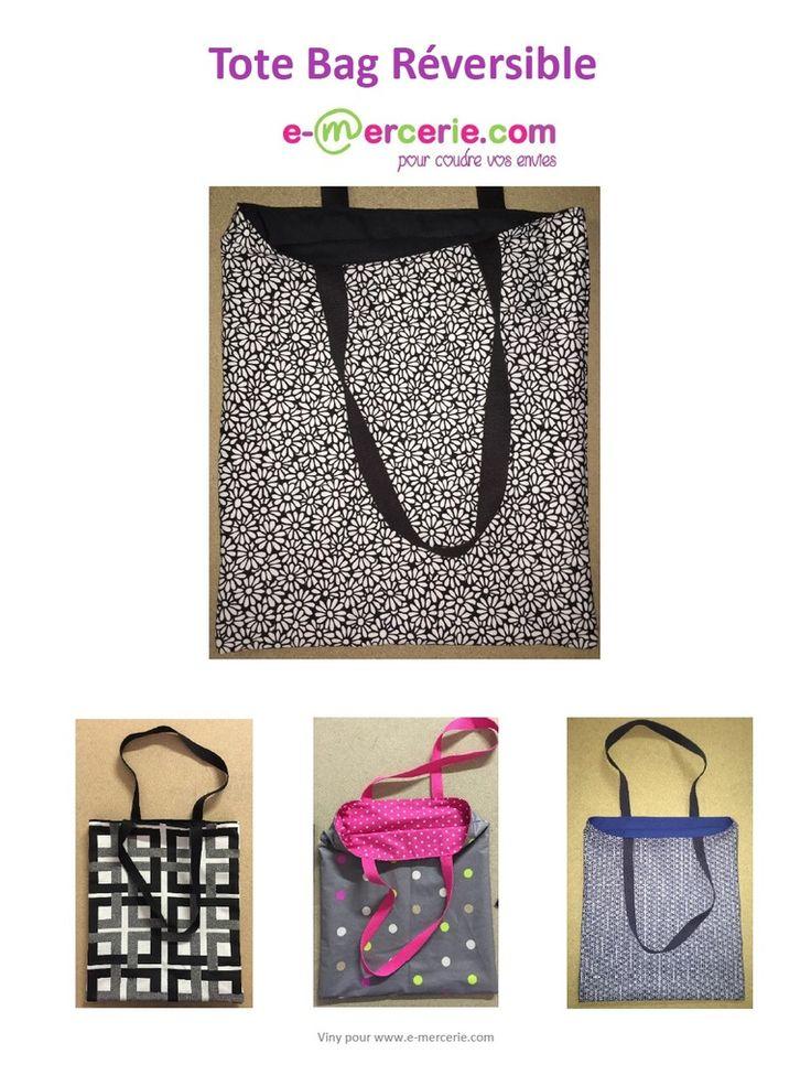"""Bonjour C'est la grande mode des """"Tote Bag"""" je vous propose mon modèle réversible, facile et rapide à réaliser! Voici le tuto en photos, à vous d'associer des tissus pour créer un tote bag à votre image... Bonne couture. Viny. fichier pdf à imprimer -..."""