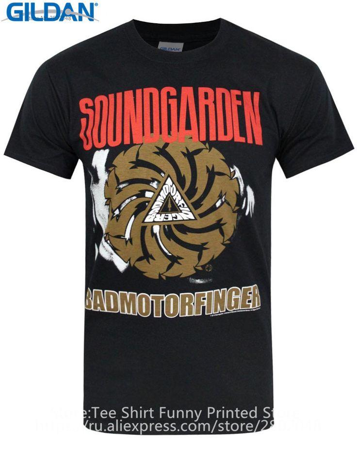 T Shirt Websites Gildan Crew Neck Short-Sleeve Christmas Official Soundgarden Badmotorfinger Shirt For Men #Affiliate