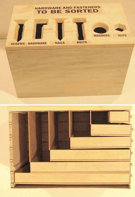 Hardware sorting box | MAKE