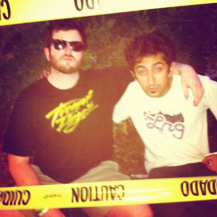 Hesh and Sam :) outside Emo's East