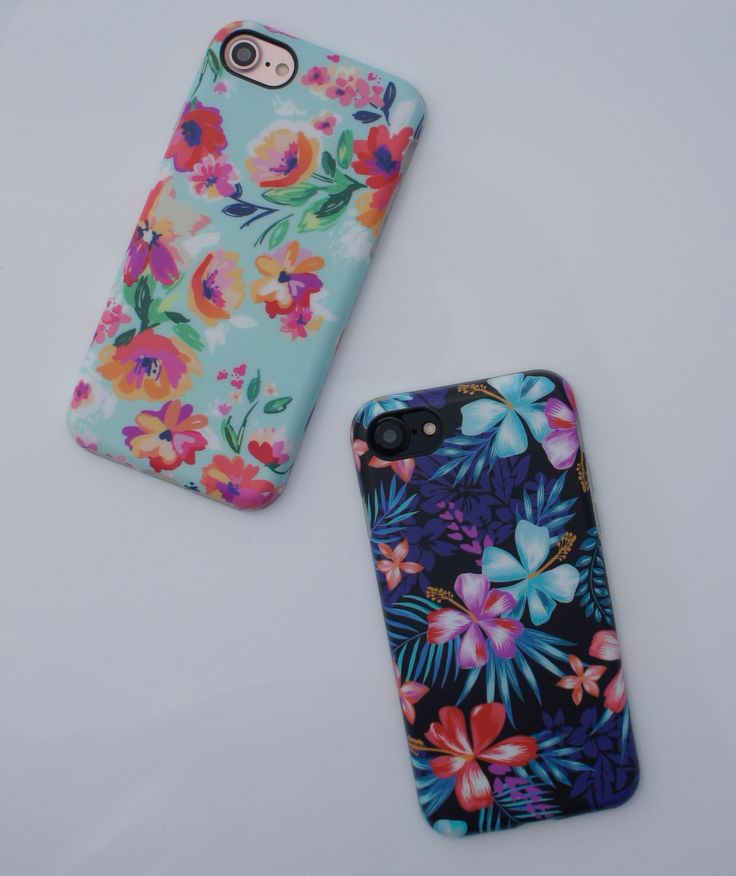 Mint Paradiso & Lilac Kiss  for iPhone 7 & iPhone 7 Plus from Elemental Cases. Spring Florals