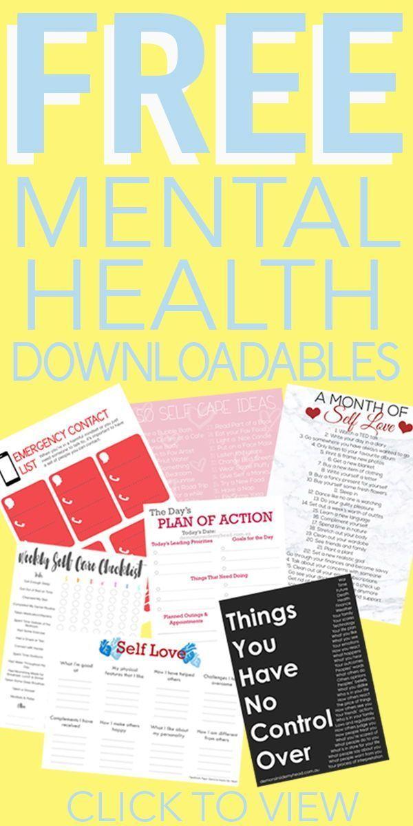 À télécharger pour la santé mentale, l'anxiété, la dépression, l'amour de soi, les soins personnels, le suicide …