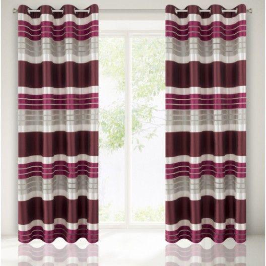 Bordovo sivy elegantny zaves do izby