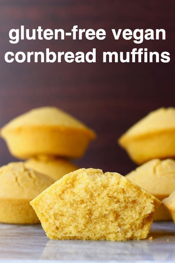 These Gluten Free Vegan Cornbread Muffins Are Moist And Fluffy Super Easy To Make And Perf Vegan Cornbread Gluten Free Vegan Cornbread Vegan Cornbread Muffins