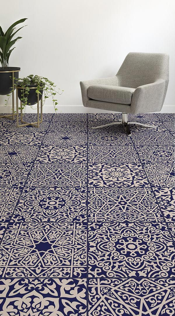 Arabesque Is An Arabic Tile Vinyl Flooring Design That Features Faux Tiles Made Up Of Intricately Decora Modern Tile Designs Vinyl Flooring Tile Design Pattern