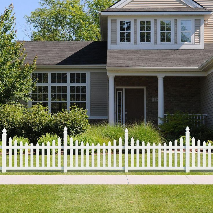 Veranda Pro-Series 4 ft. H x 6 ft. W Vinyl Westchester Scalloped Spaced Picket Fence Panel-118686 - The Home Depot