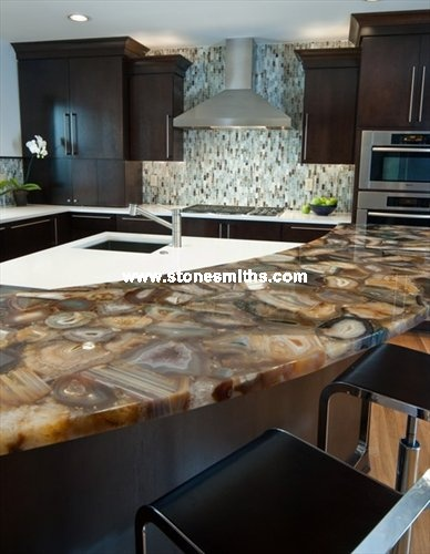 Countertops U0026 Backsplashes    Island With Concetto Agate Countertop