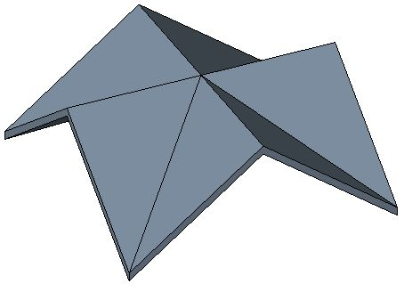 Here is an example of a Cross Gable Roof in picture form ...