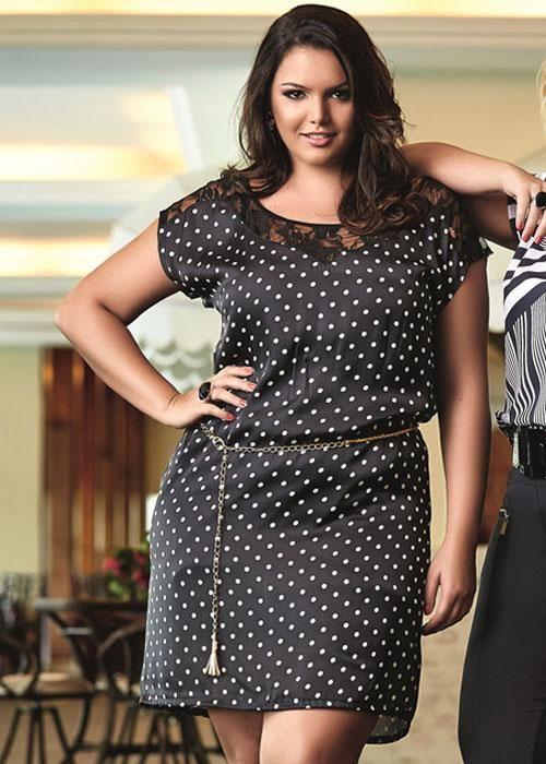 Vestido De Bolinha Poá - Liló Fashion Plus Size -