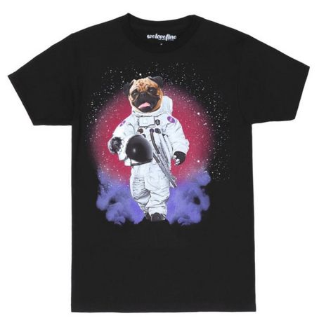 This Astro Pug Shirt is an officially licensed product from NASA! It is available in sizes S to 3XL. http://iheartdogstshirtsandhoodies.com/pug-astronaut-in-space-t-shirt/ Follow on Instagram: https://www.instagram.com/my.pug.life/