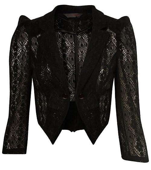 sexy black lace jacket