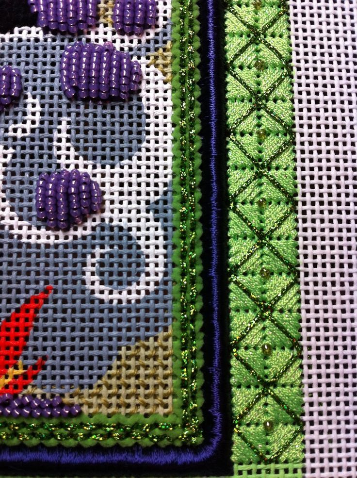 Image result for silk ribbon needlepoint borders