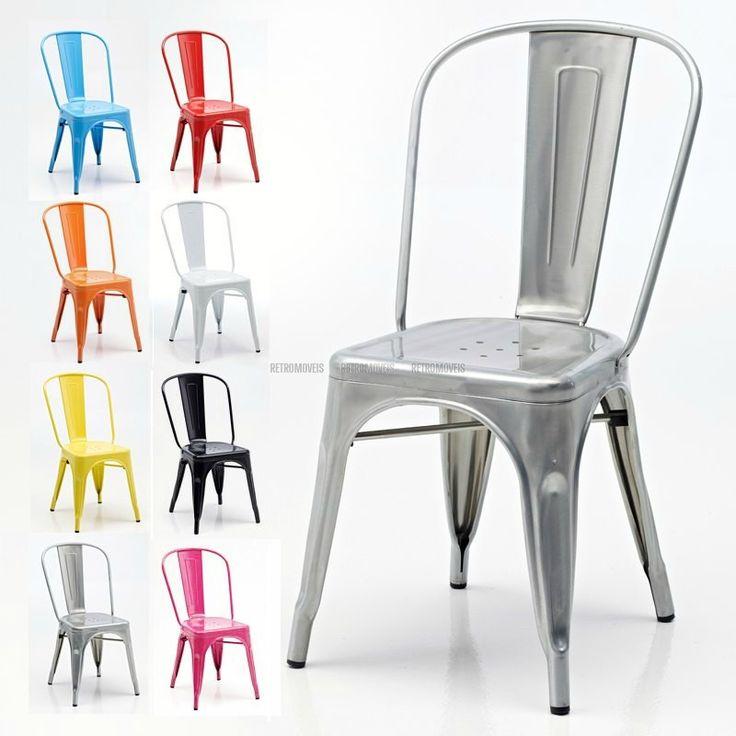 Cadeira Retro Café estilo Tolix (Cadeira Iron)