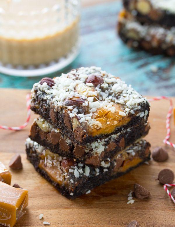 Chocolate Hazelnut Baileys Magic Cookie Bars | Recipe