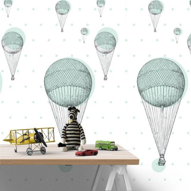 tapeta do pokoju dziecięcego w balony