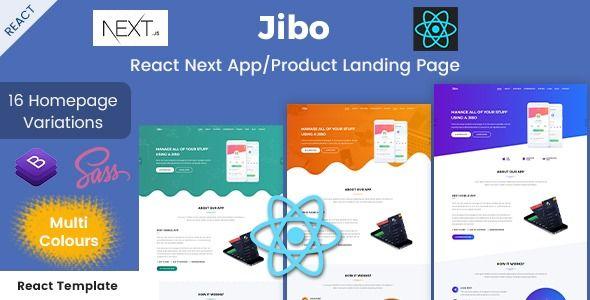 Jibo React Next App Product Landing Page Stylelib Web Design Landing Page Page Design